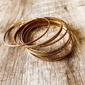 Bohemian gold  bracelets